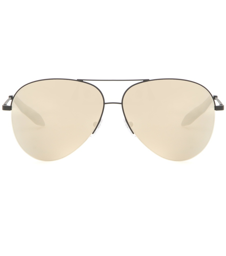 Classic Aviator Sunglasses - predominant colour: silver; occasions: casual, holiday; style: aviator; size: standard; material: chain/metal; pattern: plain; finish: plain; season: s/s 2016; wardrobe: basic