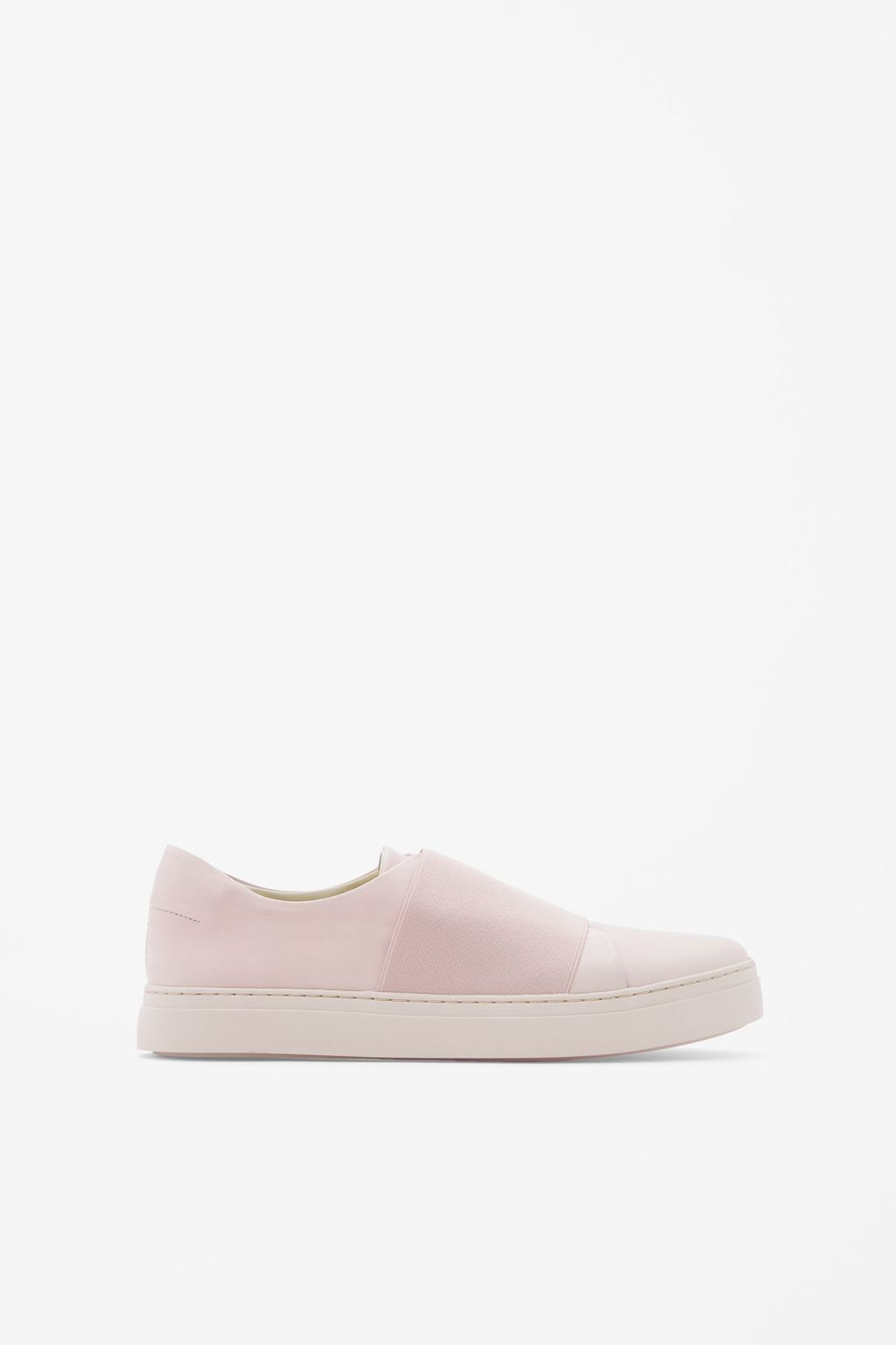 Wrap Over Leather Sneaker - predominant colour: blush; occasions: casual, holiday; material: leather; heel height: flat; toe: round toe; style: trainers; finish: plain; pattern: plain; season: s/s 2016