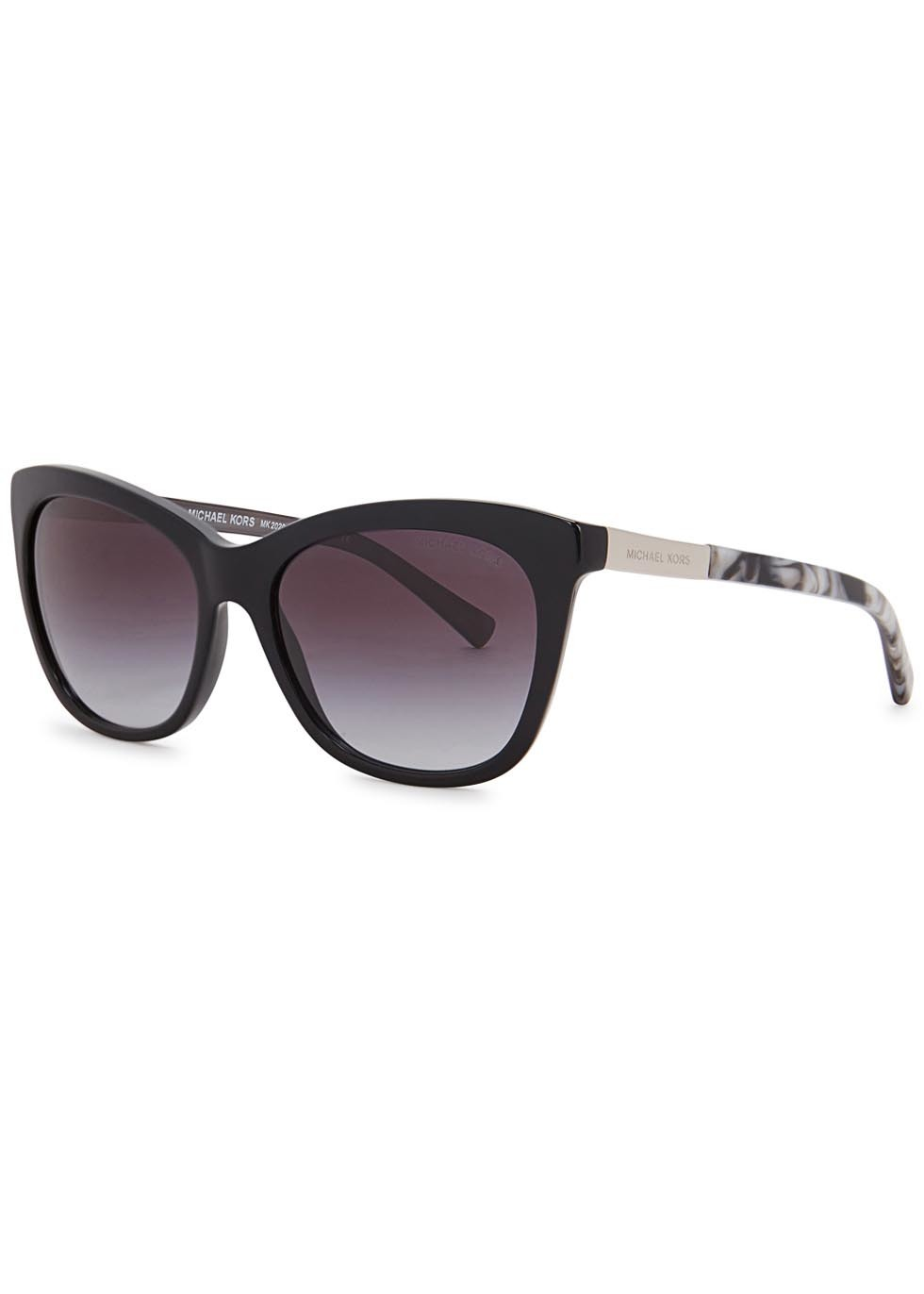 Adelaide Ii Black Cat Eye Sunglasses - predominant colour: black; occasions: casual, holiday; style: cateye; size: standard; material: plastic/rubber; pattern: plain; finish: plain; season: s/s 2016; wardrobe: basic