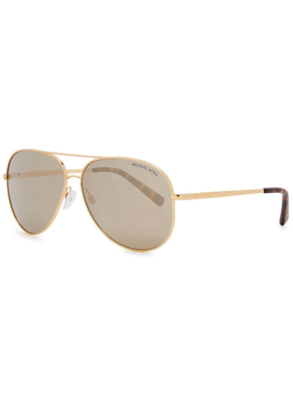 Kendall I Aviator Style Sunglasses - predominant colour: gold; occasions: casual, holiday; style: aviator; size: standard; material: chain/metal; pattern: plain; finish: metallic; season: s/s 2016; wardrobe: basic