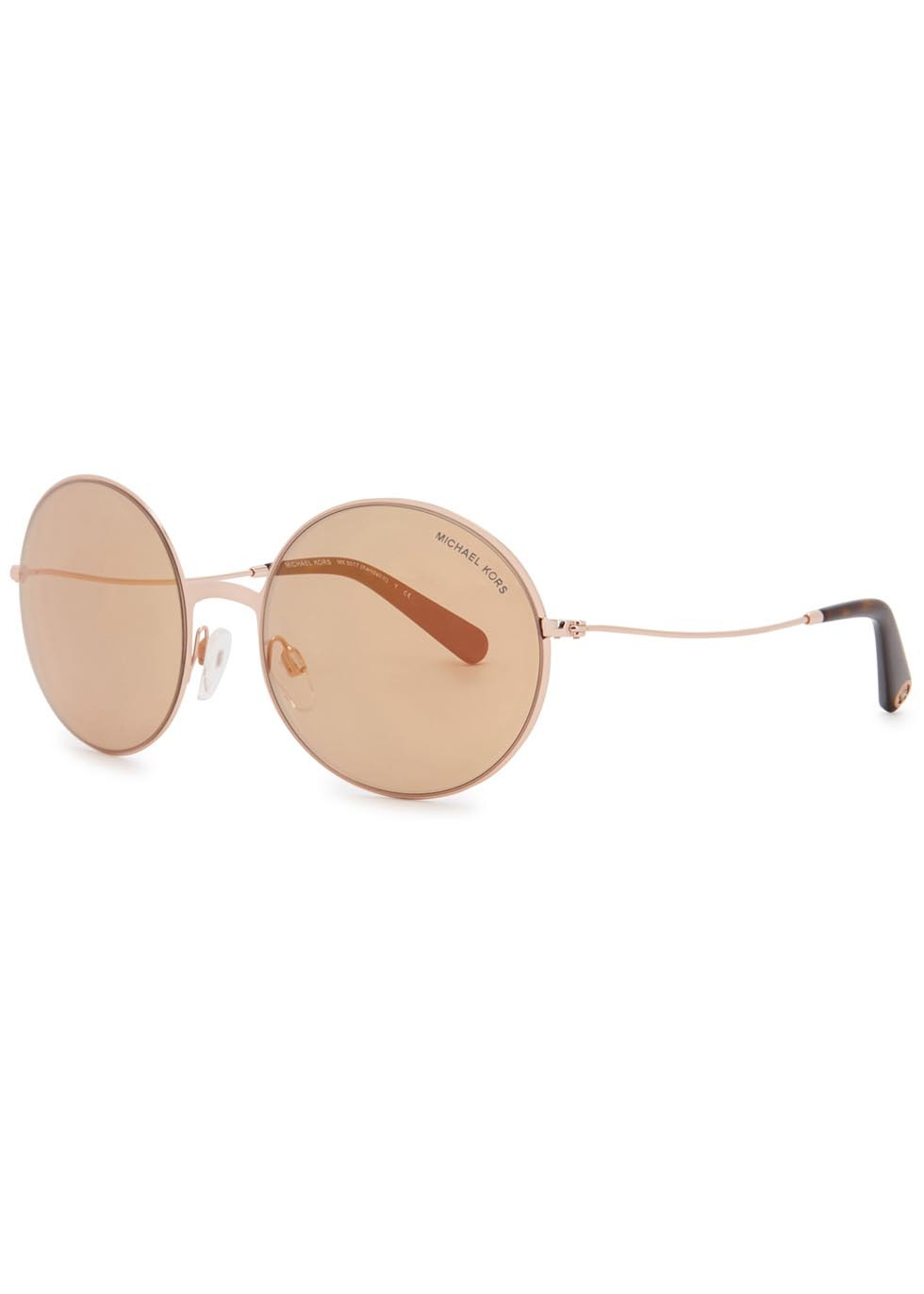 Kendall Ii Round Frame Sunglasses - predominant colour: gold; occasions: casual, holiday; style: round; size: standard; material: chain/metal; pattern: plain; finish: metallic; season: s/s 2016; wardrobe: basic