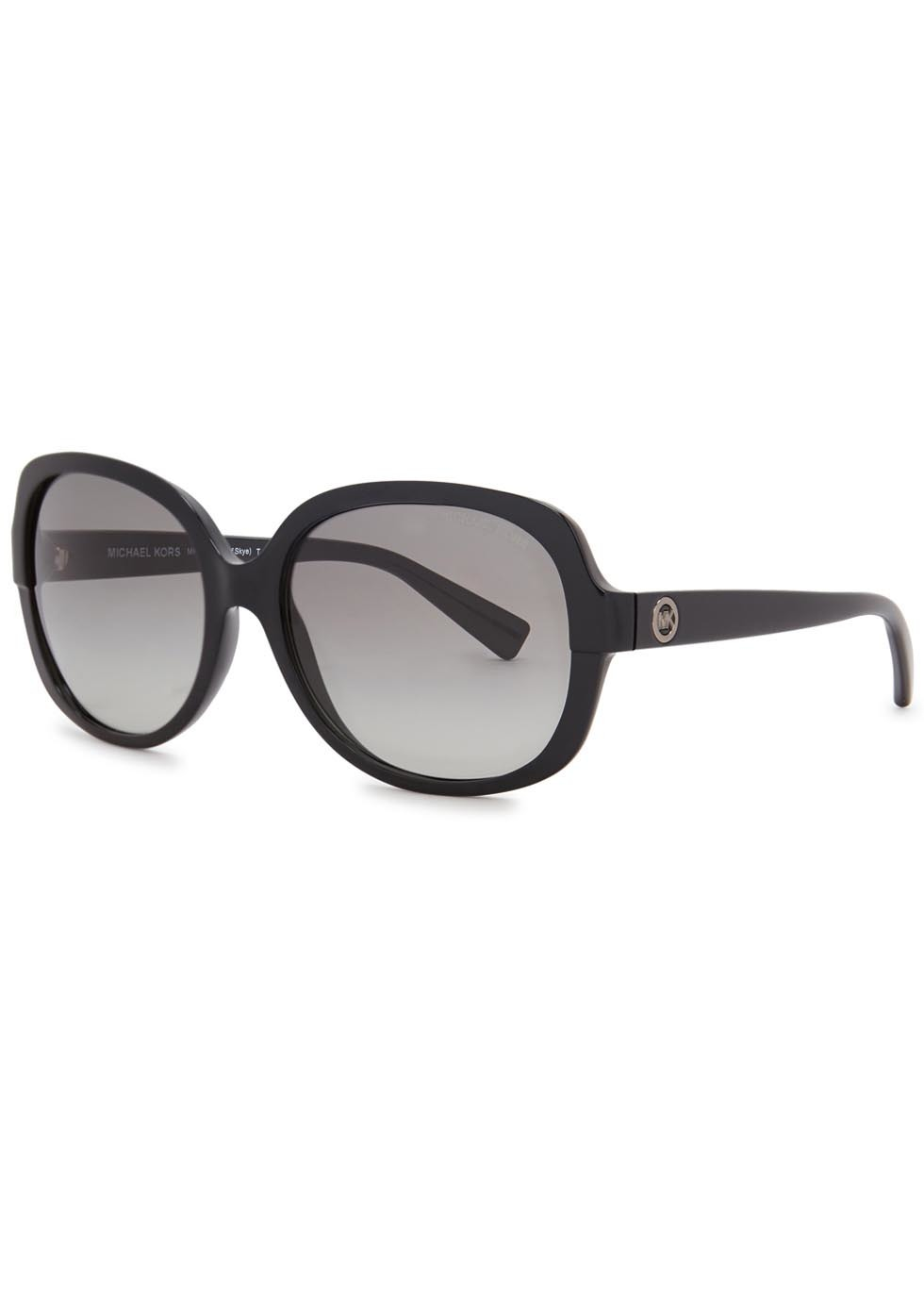 Isle Of Skye Square Frame Sunglasses - predominant colour: black; occasions: casual, holiday; style: square; size: large; material: plastic/rubber; pattern: plain; finish: plain; season: s/s 2016; wardrobe: basic