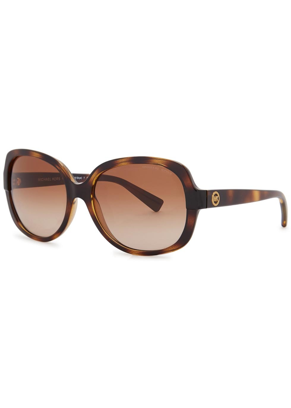 Isle Of Skye Square Frame Sunglasses - predominant colour: chocolate brown; secondary colour: tan; occasions: casual, holiday; style: square; size: large; material: plastic/rubber; pattern: tortoiseshell; finish: plain; season: s/s 2016; wardrobe: basic