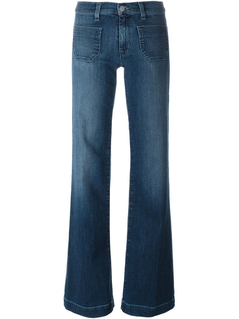 'libby' Wide Leg Jeans, Women's, Blue - length: standard; pattern: plain; waist: mid/regular rise; style: wide leg; predominant colour: denim; occasions: casual, creative work; fibres: cotton - stretch; jeans detail: shading down centre of thigh; texture group: denim; pattern type: fabric; season: s/s 2016; wardrobe: basic