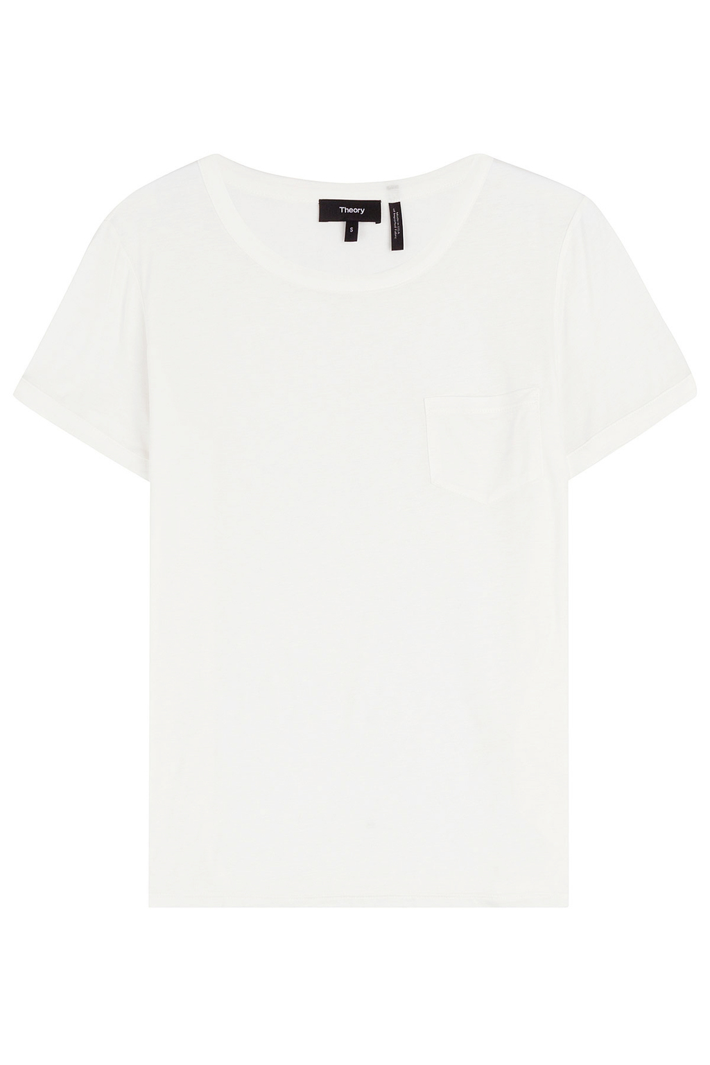 Jersey T Shirt - neckline: round neck; pattern: plain; style: t-shirt; predominant colour: white; occasions: casual; length: standard; fibres: cotton - 100%; fit: straight cut; sleeve length: short sleeve; sleeve style: standard; pattern type: fabric; texture group: jersey - stretchy/drapey; season: s/s 2016; wardrobe: basic