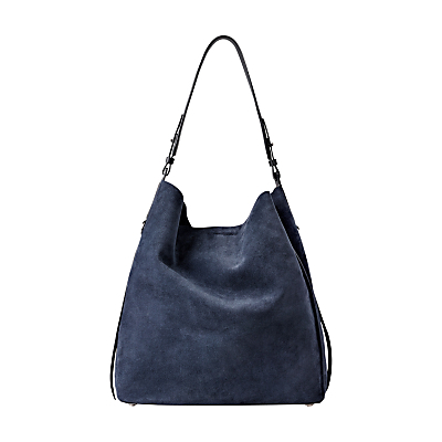Paradise North South Tote Bag - predominant colour: navy; occasions: casual, creative work; type of pattern: standard; style: shoulder; length: shoulder (tucks under arm); size: standard; material: leather; pattern: plain; finish: plain; season: s/s 2016; wardrobe: investment