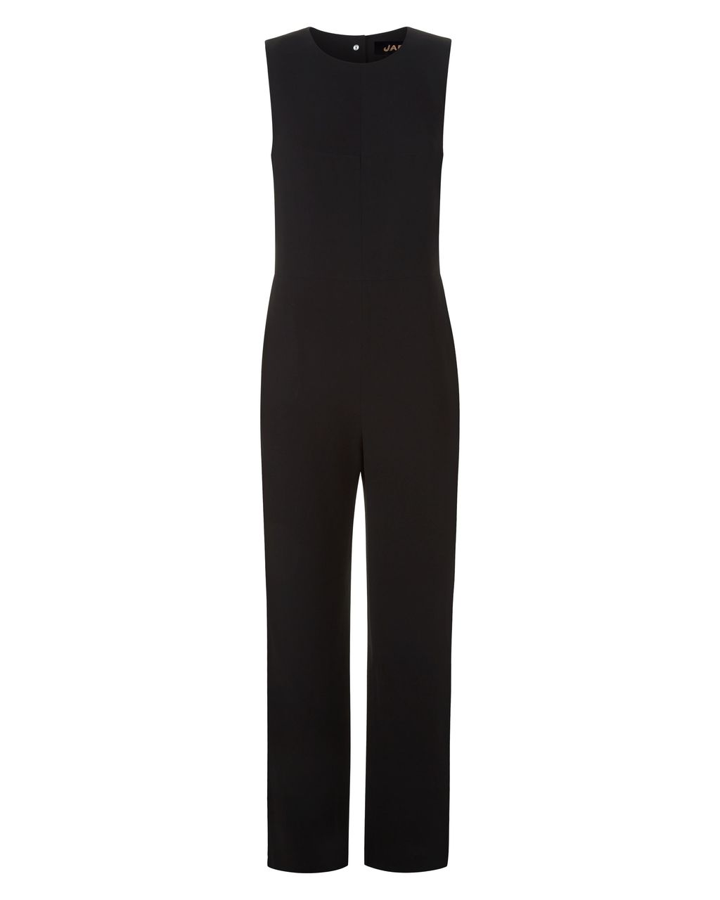Laboratory Heritage Jumpsuit, Black - length: standard; neckline: round neck; pattern: plain; sleeve style: sleeveless; predominant colour: black; occasions: evening, occasion; fit: body skimming; fibres: polyester/polyamide - mix; sleeve length: sleeveless; style: jumpsuit; pattern type: fabric; texture group: jersey - stretchy/drapey; season: s/s 2016; wardrobe: event