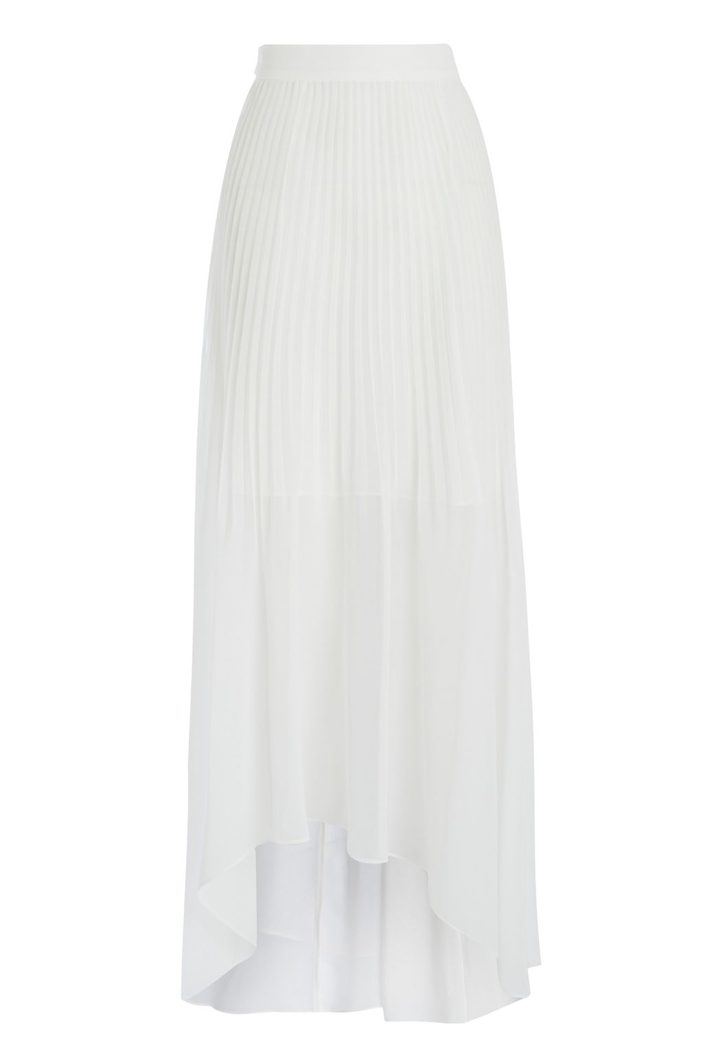Toola Skirt, Ivory - pattern: plain; length: ankle length; fit: loose/voluminous; style: pleated; waist: high rise; predominant colour: white; fibres: polyester/polyamide - 100%; occasions: occasion; hip detail: soft pleats at hip/draping at hip/flared at hip; pattern type: fabric; texture group: other - light to midweight; season: s/s 2016; wardrobe: event