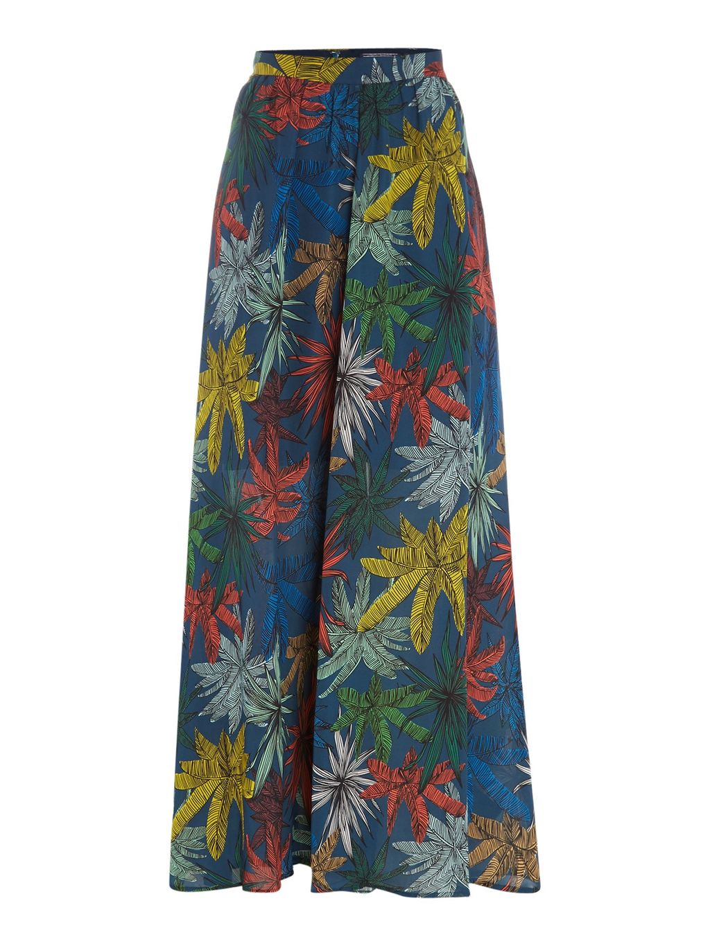 Erye Maxi Skirt, Navy - length: ankle length; fit: body skimming; waist: high rise; predominant colour: royal blue; secondary colour: yellow; style: maxi skirt; fibres: polyester/polyamide - 100%; occasions: occasion; pattern type: fabric; pattern: florals; texture group: other - light to midweight; pattern size: standard (bottom); multicoloured: multicoloured; season: s/s 2016; wardrobe: event