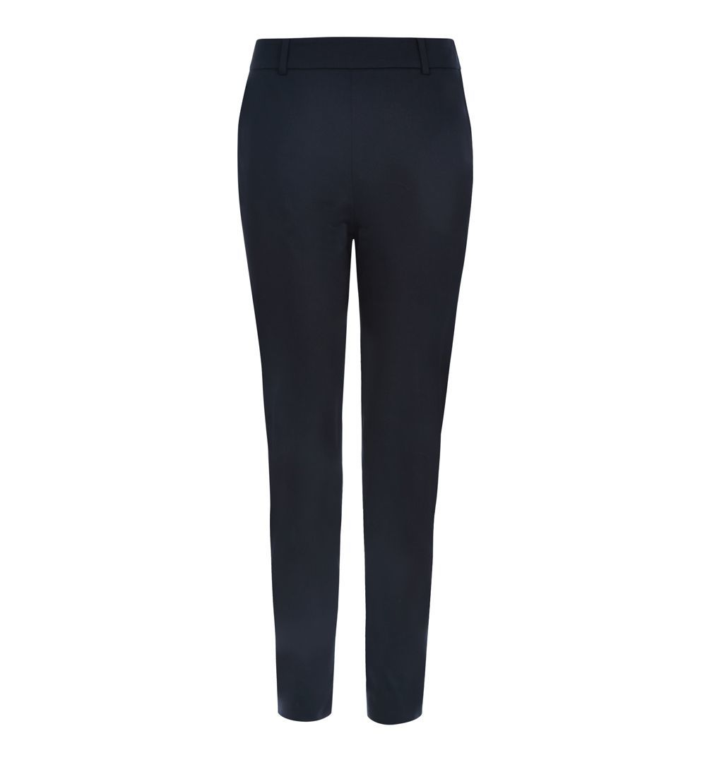 Mallory Capri, Navy - pattern: plain; style: capri; waist: mid/regular rise; predominant colour: navy; occasions: work; length: ankle length; fibres: cotton - stretch; texture group: cotton feel fabrics; fit: slim leg; pattern type: fabric; season: s/s 2016