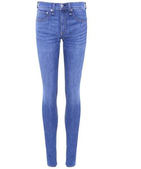 Prescott Mid Rise Skinny Jeans - style: skinny leg; length: standard; pattern: plain; waist: mid/regular rise; predominant colour: diva blue; occasions: casual, creative work; fibres: cotton - stretch; texture group: denim; pattern type: fabric; season: s/s 2016; wardrobe: highlight