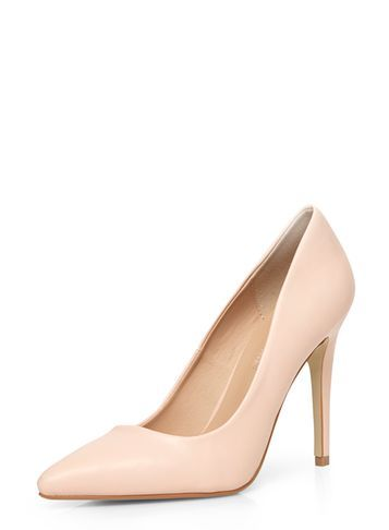 Womens Pink 'emie' High Courts. Pink - predominant colour: blush; occasions: evening, occasion; material: faux leather; heel height: high; heel: stiletto; toe: pointed toe; style: courts; finish: plain; pattern: plain; season: s/s 2016
