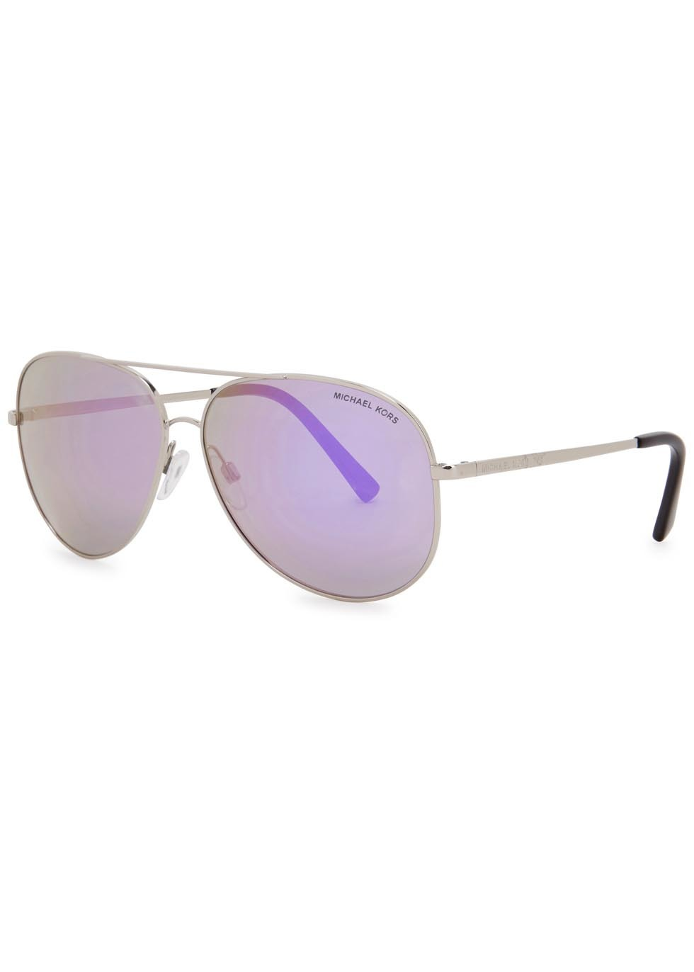 Kendall I Aviator Style Sunglasses - predominant colour: silver; occasions: casual, holiday; style: aviator; size: standard; material: chain/metal; pattern: plain; finish: metallic; season: s/s 2016; wardrobe: basic