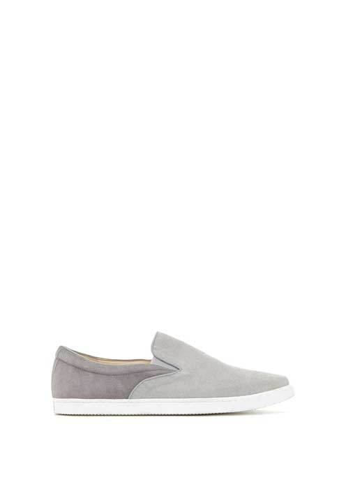 Grey Alice Slip On Plimsoll - predominant colour: mid grey; occasions: casual; material: fabric; heel height: flat; toe: round toe; finish: plain; pattern: plain; style: skate shoes; season: s/s 2016; wardrobe: basic