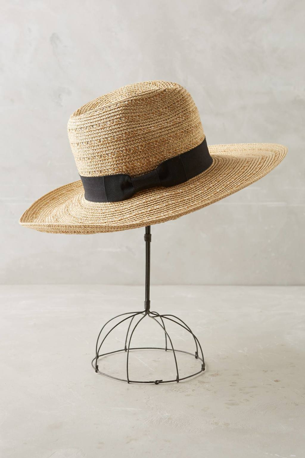 Coronado Rancher - predominant colour: ivory/cream; secondary colour: black; type of pattern: light; embellishment: ribbon; style: wide brimmed; size: standard; material: macrame/raffia/straw; pattern: plain; occasions: holiday; season: s/s 2016; wardrobe: holiday