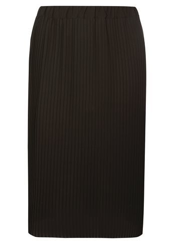 Womens **Dp Curve Black Pleated Midi Skirt Black - length: below the knee; pattern: plain; style: straight; waist: mid/regular rise; predominant colour: black; occasions: work, creative work; fibres: polyester/polyamide - 100%; fit: straight cut; pattern type: fabric; texture group: other - light to midweight; season: s/s 2016