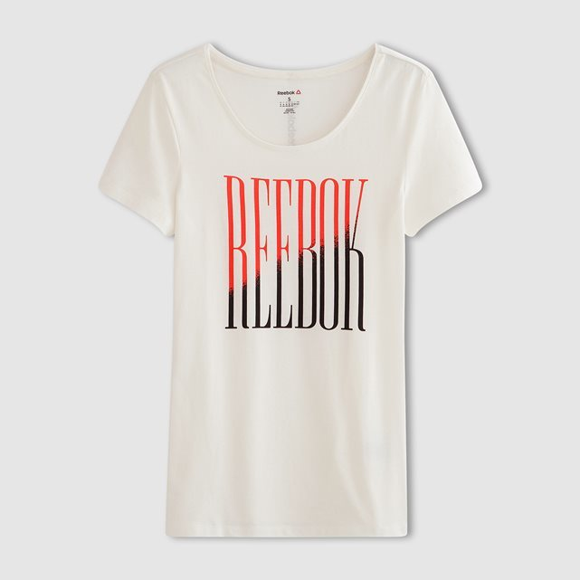T Shirt - style: t-shirt; predominant colour: ivory/cream; secondary colour: coral; occasions: casual, activity; length: standard; neckline: scoop; fibres: cotton - stretch; fit: body skimming; sleeve length: short sleeve; sleeve style: standard; texture group: jersey - clingy; pattern type: fabric; pattern: graphic/slogan; multicoloured: multicoloured; season: s/s 2016