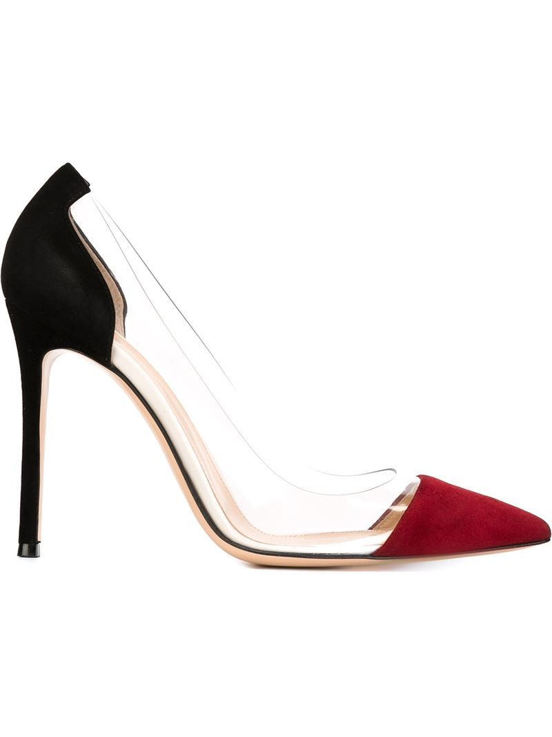 'plexi' Pumps, Women's, Size: 35.5, Black - predominant colour: burgundy; secondary colour: black; occasions: evening; material: suede; heel: stiletto; toe: pointed toe; style: courts; finish: plain; pattern: colourblock; heel height: very high; season: s/s 2016