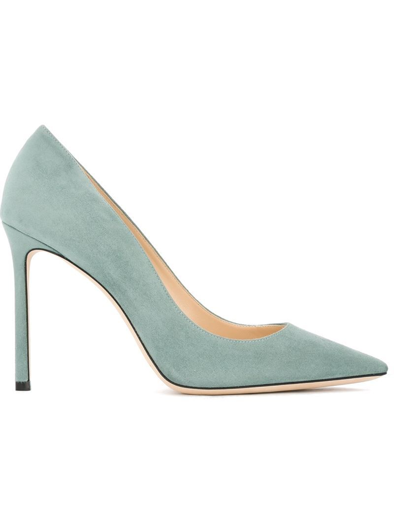 'romy' Pumps, Women's, Size: 38.5, Green - predominant colour: pistachio; occasions: evening, occasion, creative work; material: suede; heel: stiletto; toe: pointed toe; style: courts; finish: plain; pattern: plain; heel height: very high; season: s/s 2016; wardrobe: highlight
