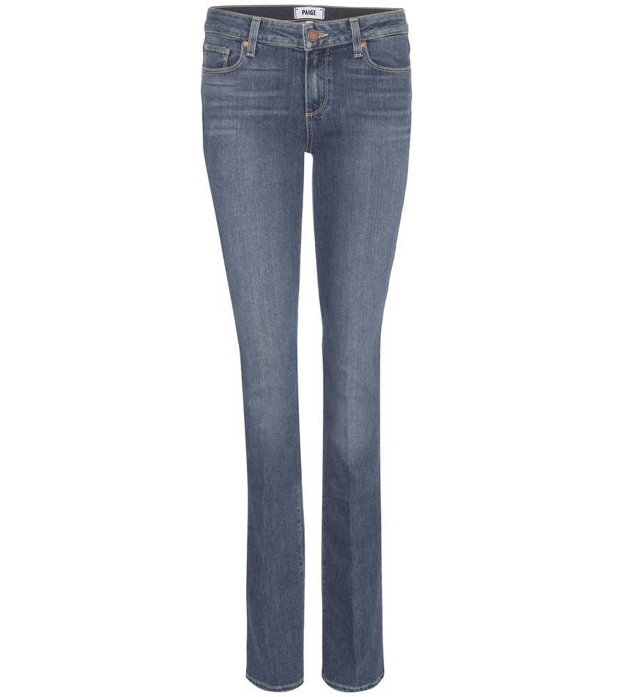 Manhattan Mid Rise Slim Bootcut Jeans - style: bootcut; length: standard; pattern: plain; waist: low rise; pocket detail: traditional 5 pocket; predominant colour: denim; occasions: casual; fibres: cotton - stretch; texture group: denim; pattern type: fabric; season: s/s 2016; wardrobe: basic