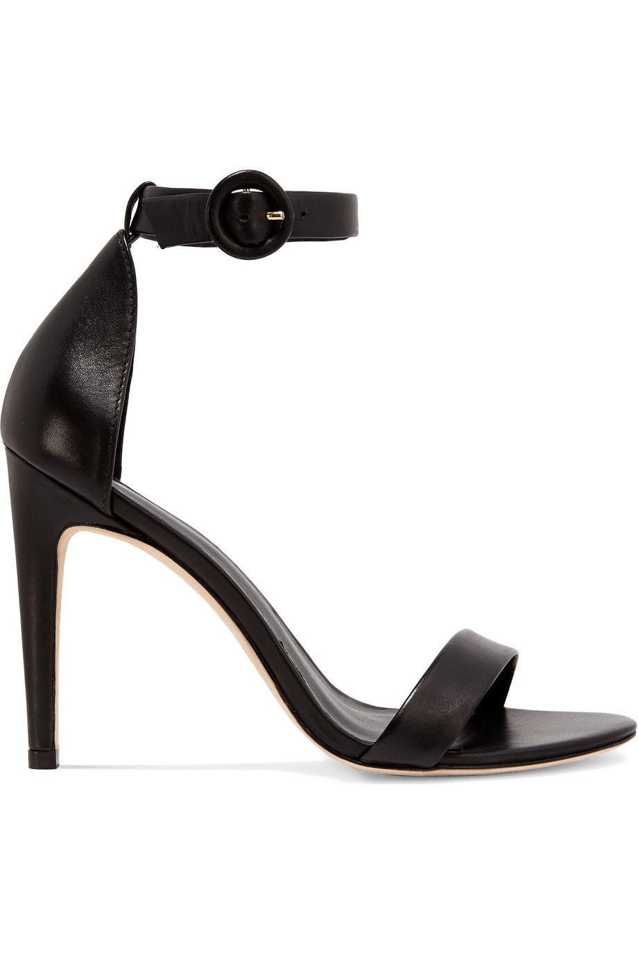 Rivington Leather Sandals Black - predominant colour: black; occasions: evening, occasion; material: leather; ankle detail: ankle strap; heel: stiletto; toe: open toe/peeptoe; style: standard; finish: plain; pattern: plain; heel height: very high; season: s/s 2016; wardrobe: event