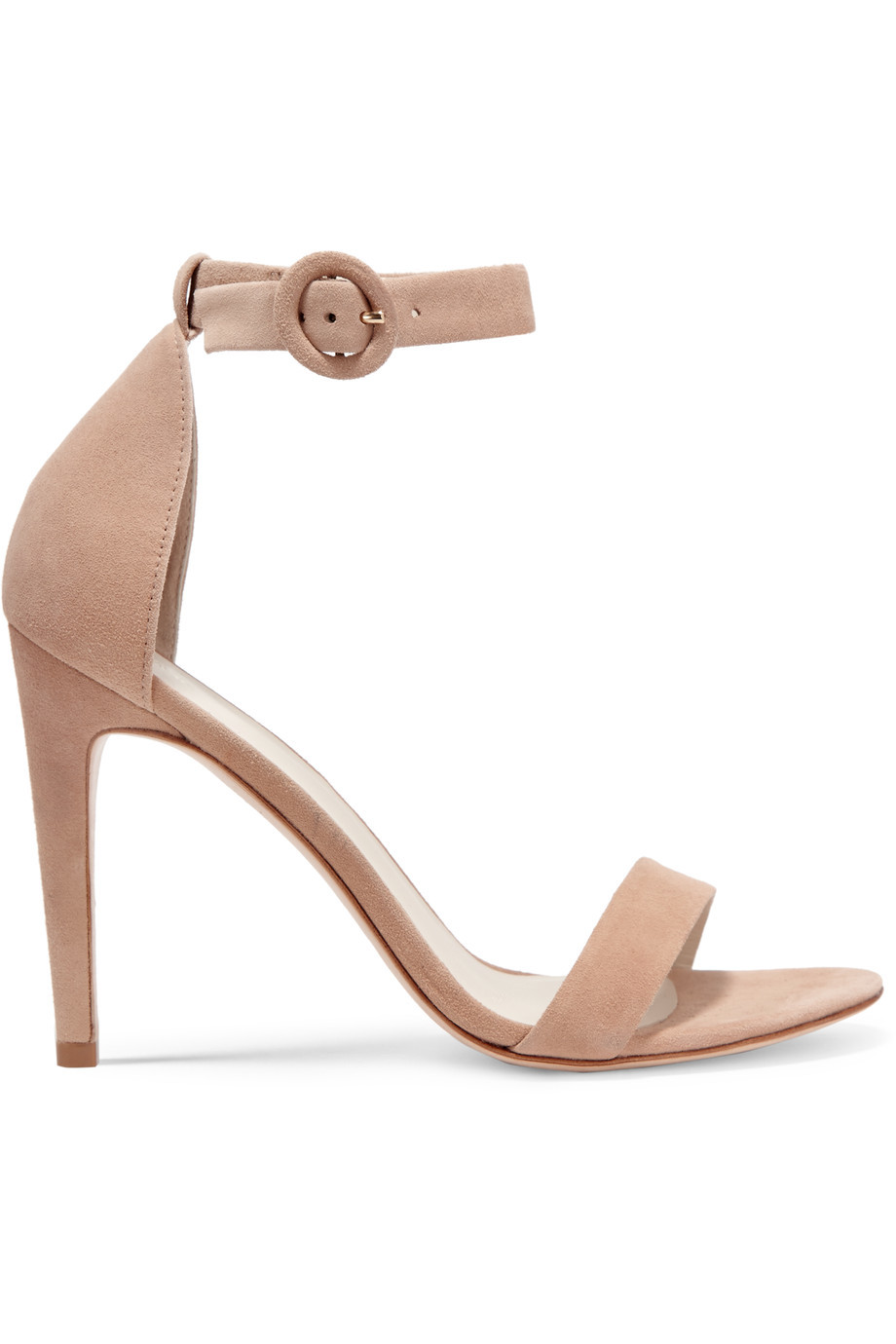 Rivington Suede Sandals Blush - predominant colour: camel; occasions: evening, occasion; material: suede; ankle detail: ankle strap; heel: stiletto; toe: open toe/peeptoe; style: standard; finish: plain; pattern: plain; heel height: very high; season: s/s 2016; wardrobe: event