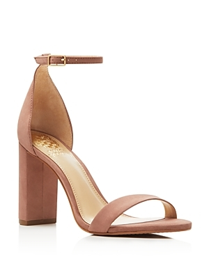 Mairana Ankle Strap High Heel Sandals - predominant colour: camel; occasions: evening, occasion, creative work; material: leather; heel height: high; ankle detail: ankle strap; heel: block; toe: open toe/peeptoe; style: standard; finish: plain; pattern: plain; season: s/s 2016; wardrobe: investment