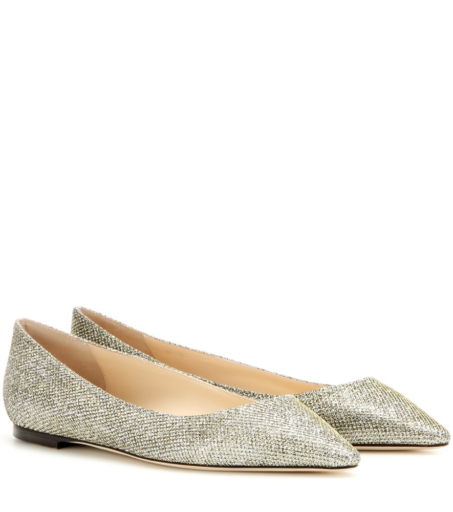 Romy Glitter Ballerinas - predominant colour: gold; occasions: casual, evening, creative work; material: fabric; heel height: flat; embellishment: glitter; toe: pointed toe; style: ballerinas / pumps; finish: metallic; pattern: plain; season: s/s 2016; wardrobe: basic