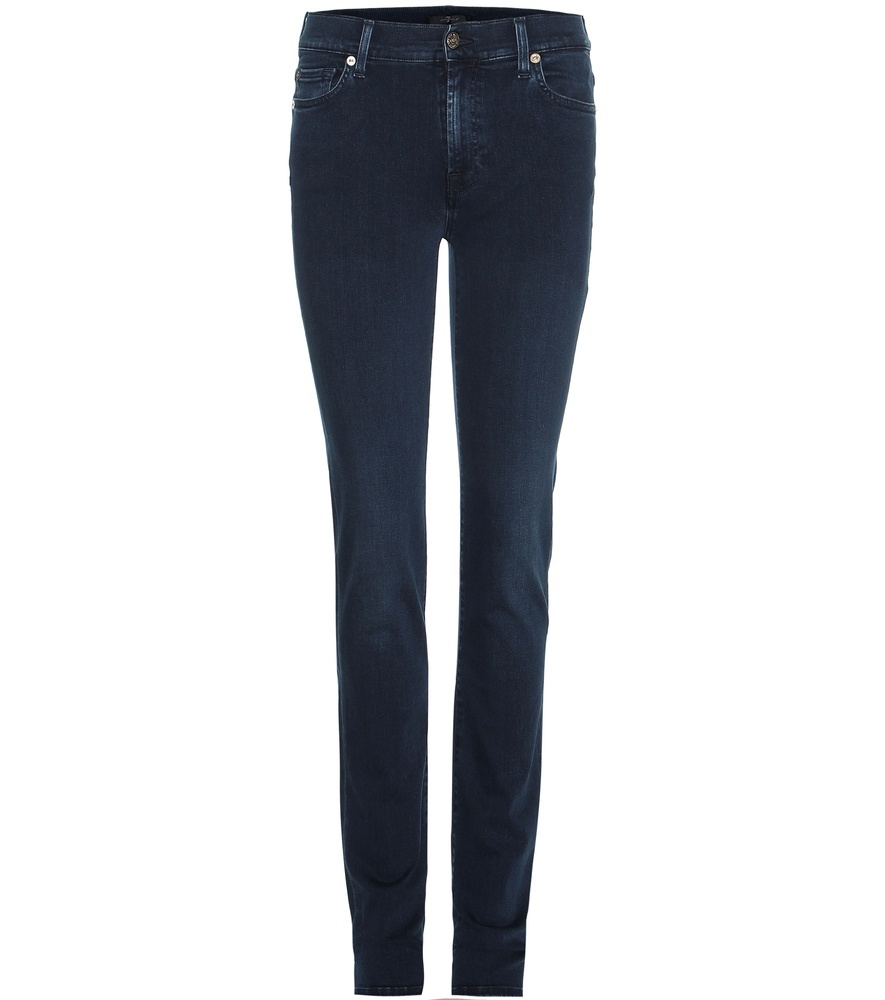 Rozie High Rise Slim Jeans - style: skinny leg; length: standard; pattern: plain; pocket detail: traditional 5 pocket; waist: mid/regular rise; predominant colour: nude; occasions: casual; fibres: cotton - stretch; jeans detail: dark wash; texture group: denim; pattern type: fabric; season: s/s 2016; wardrobe: highlight
