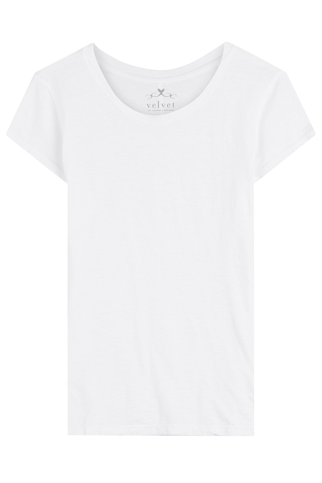 Cotton T Shirt - neckline: round neck; pattern: plain; style: t-shirt; predominant colour: white; occasions: casual; length: standard; fibres: cotton - 100%; fit: straight cut; sleeve length: short sleeve; sleeve style: standard; pattern type: fabric; texture group: jersey - stretchy/drapey; season: s/s 2016; wardrobe: basic