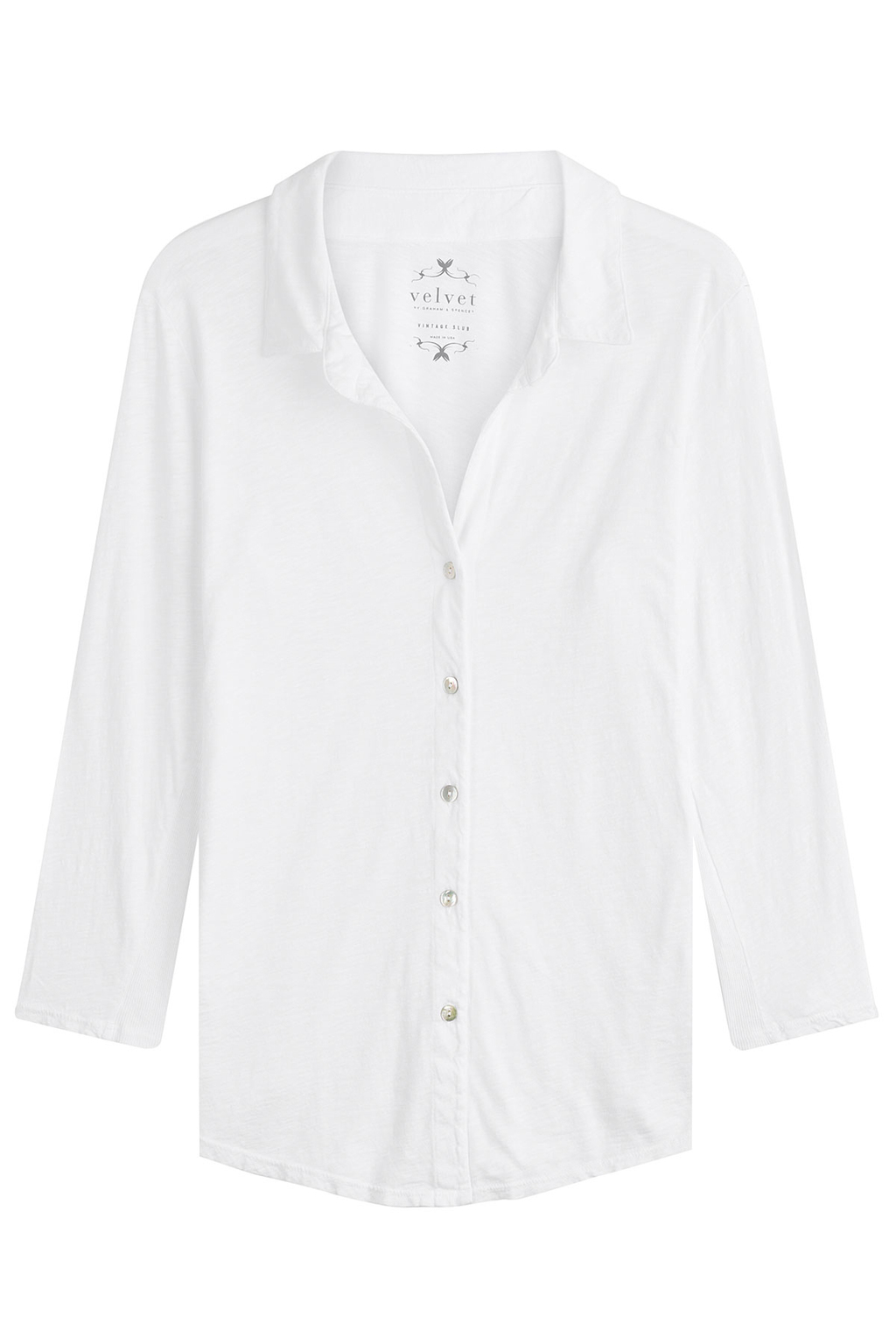 Cotton Shirt White - neckline: shirt collar/peter pan/zip with opening; pattern: plain; style: shirt; predominant colour: white; occasions: casual, work, creative work; length: standard; fibres: cotton - 100%; fit: body skimming; sleeve length: long sleeve; sleeve style: standard; texture group: cotton feel fabrics; pattern type: fabric; season: s/s 2016