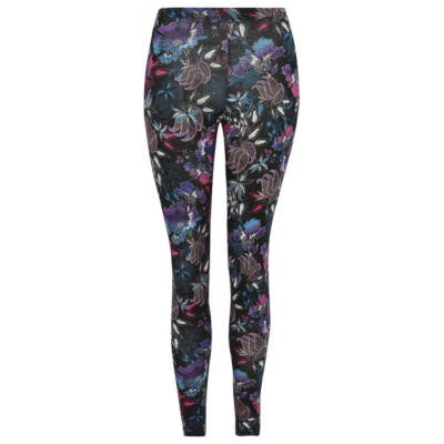 Floral Ankle Grazer Leggings Multi - style: leggings; waist detail: elasticated waist; waist: mid/regular rise; predominant colour: black; occasions: casual, activity; length: ankle length; fibres: cotton - stretch; texture group: jersey - clingy; fit: skinny/tight leg; pattern type: fabric; pattern: patterned/print; multicoloured: multicoloured; season: s/s 2016