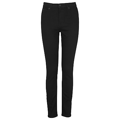 Skinny Jeans, Black - style: skinny leg; length: standard; pattern: plain; waist: high rise; pocket detail: traditional 5 pocket; predominant colour: black; occasions: casual, evening, creative work; fibres: cotton - stretch; texture group: denim; pattern type: fabric; season: s/s 2016; wardrobe: basic