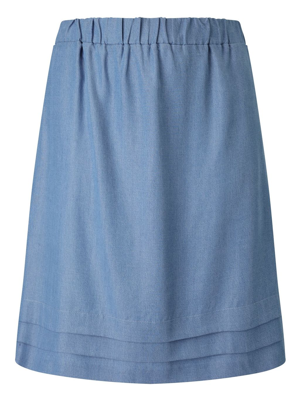 Tina Skirt, Blue - pattern: plain; style: full/prom skirt; fit: loose/voluminous; waist: mid/regular rise; predominant colour: denim; occasions: casual, creative work; length: on the knee; fibres: cotton - 100%; texture group: denim; pattern type: fabric; season: s/s 2016