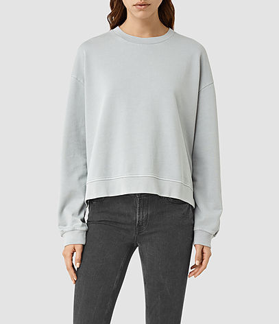 New Lo Sweatshirt - pattern: plain; style: sweat top; predominant colour: light grey; occasions: casual; length: standard; fibres: cotton - stretch; fit: loose; neckline: crew; sleeve length: long sleeve; sleeve style: standard; pattern type: fabric; texture group: jersey - stretchy/drapey; season: s/s 2016; wardrobe: basic