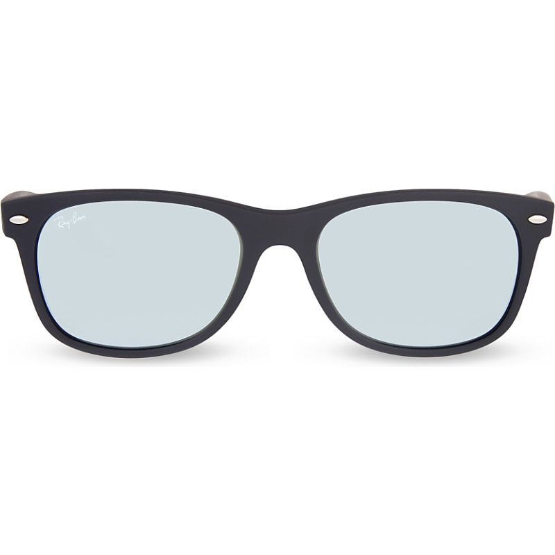 Matte Wayfarer Sunglasses, Women's, Black - predominant colour: black; occasions: casual, holiday; style: square; size: standard; material: plastic/rubber; pattern: plain; finish: plain; season: s/s 2016; wardrobe: basic