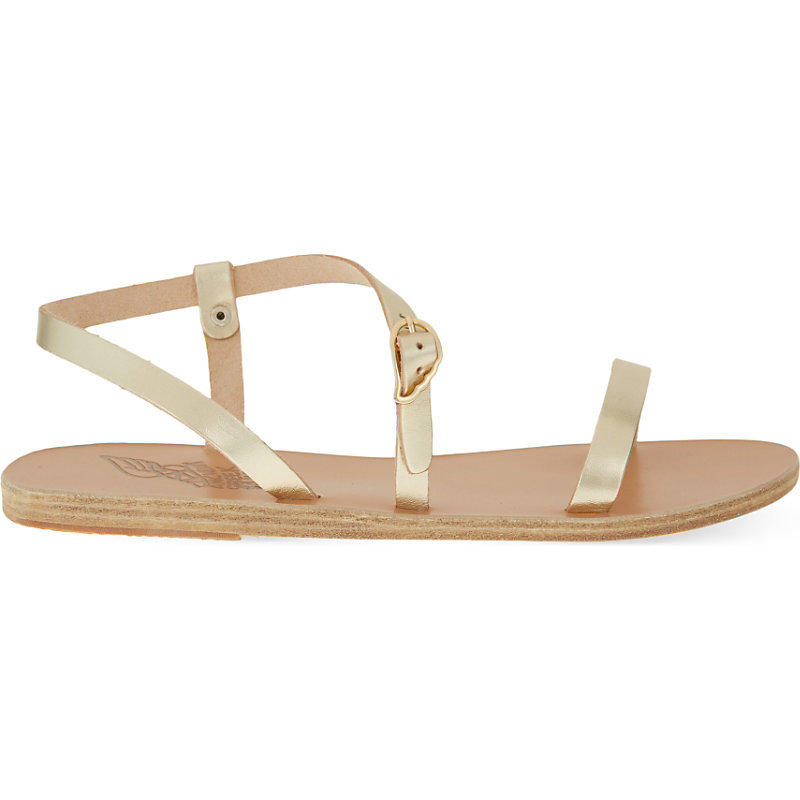 Niove Leather Sandals, Women's, Eur 40 / 7 Uk Women, White - predominant colour: gold; occasions: casual; material: leather; heel height: flat; heel: standard; toe: open toe/peeptoe; style: strappy; finish: plain; pattern: plain; season: s/s 2016; wardrobe: basic