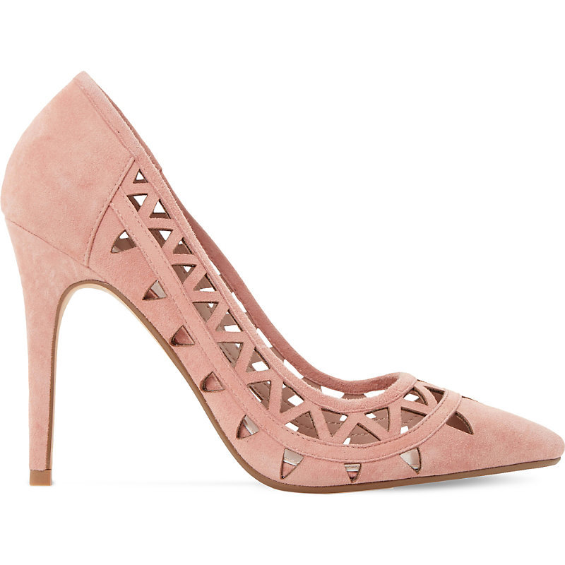 Billey Cut Out Suede Courts, Women's, Eur 40 / 7 Uk Women, Dark Pink - predominant colour: pink; occasions: evening; material: suede; heel height: high; heel: stiletto; toe: pointed toe; style: courts; finish: plain; pattern: plain; season: s/s 2016; wardrobe: event