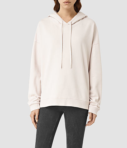 Tor Hoody - pattern: plain; neckline: high neck; length: below the bottom; back detail: hood; predominant colour: ivory/cream; occasions: casual; fibres: cotton - stretch; fit: standard fit; sleeve length: long sleeve; sleeve style: standard; pattern type: fabric; texture group: jersey - stretchy/drapey; season: s/s 2016; style: hoody; wardrobe: highlight