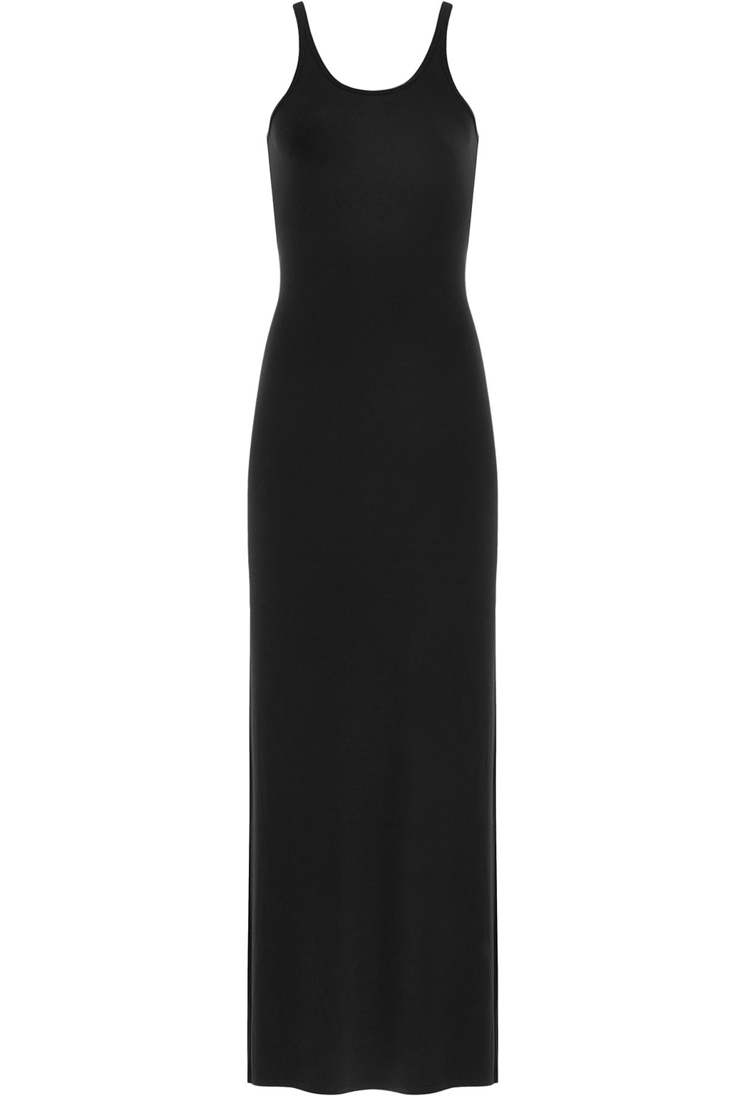 Tank Jersey Maxi Dress Black - pattern: plain; sleeve style: sleeveless; style: maxi dress; length: ankle length; predominant colour: black; fit: body skimming; neckline: scoop; fibres: viscose/rayon - stretch; sleeve length: sleeveless; occasions: holiday; pattern type: fabric; texture group: jersey - stretchy/drapey; season: s/s 2016; wardrobe: holiday