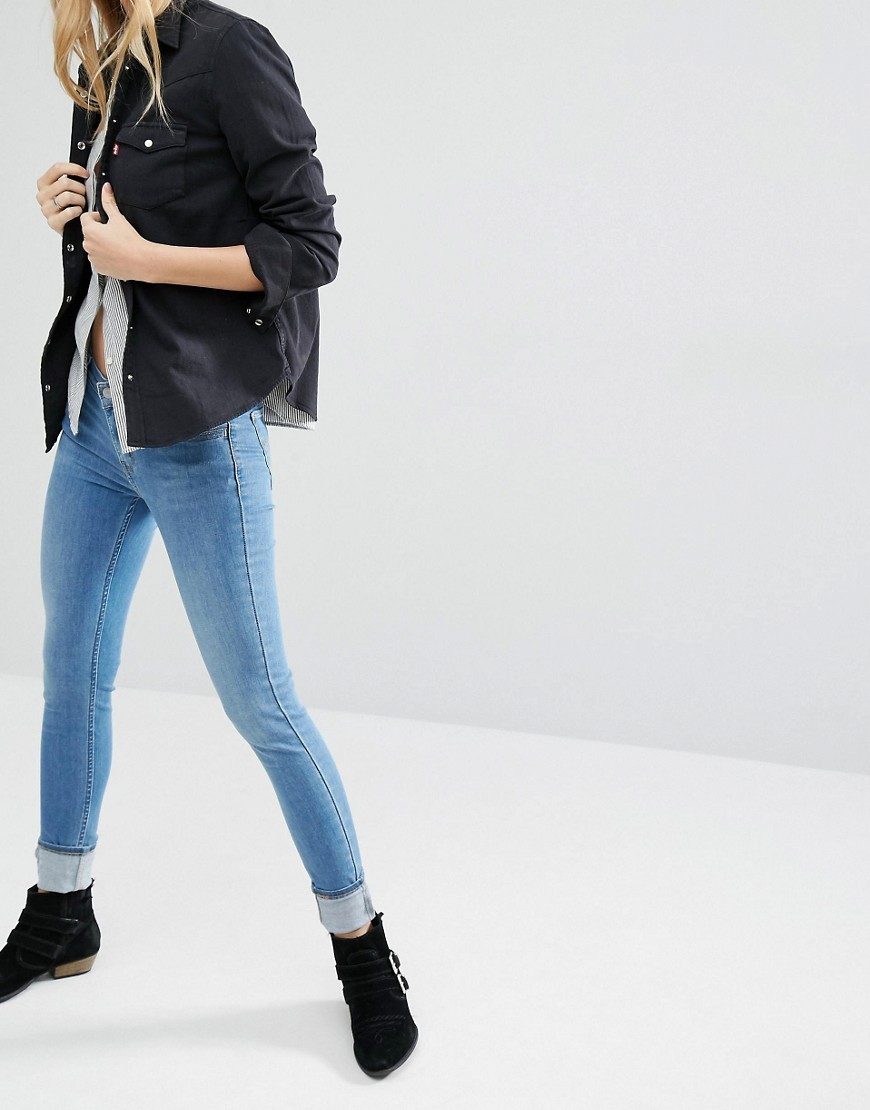 Innovation Mid Rise Super Skinny Jeans Spirit Song Blue - style: skinny leg; length: standard; pattern: plain; pocket detail: traditional 5 pocket; waist: mid/regular rise; predominant colour: diva blue; occasions: casual; fibres: cotton - stretch; texture group: denim; pattern type: fabric; season: s/s 2016