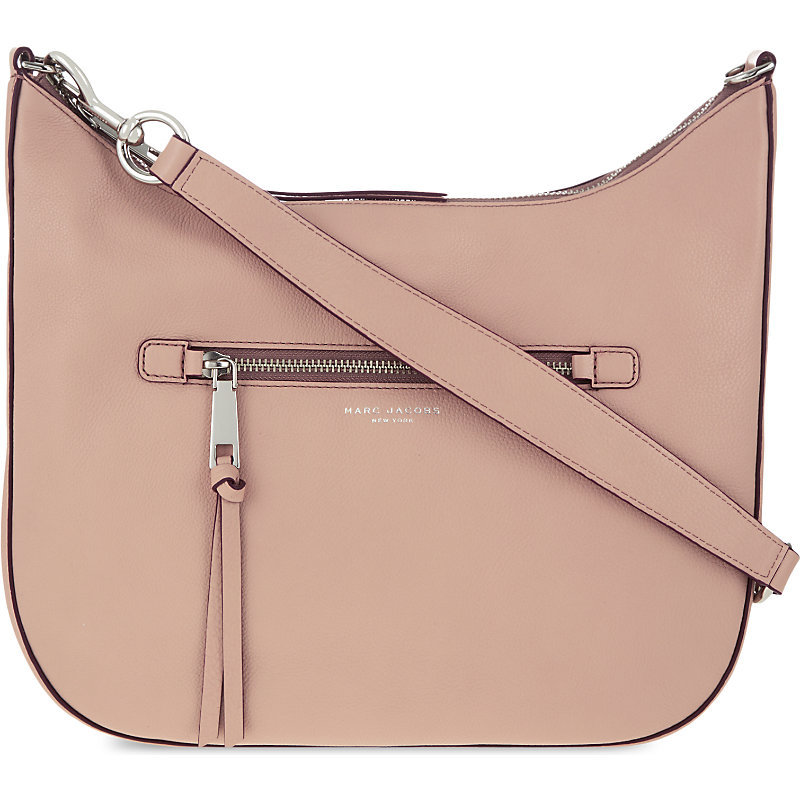 Recruit Leather Hobo Shoulder Bag, Women's, Light Salmon - predominant colour: camel; occasions: casual, creative work; type of pattern: standard; length: shoulder (tucks under arm); size: standard; material: leather; embellishment: tassels; pattern: plain; finish: plain; style: hobo; season: s/s 2016; wardrobe: investment