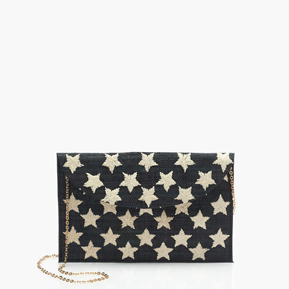 Kayu™ Hand Embroidered Envelope Clutch - secondary colour: ivory/cream; predominant colour: black; occasions: evening, occasion; type of pattern: heavy; style: clutch; length: hand carry; size: small; material: fabric; embellishment: embroidered; finish: plain; pattern: patterned/print; season: s/s 2016; wardrobe: event