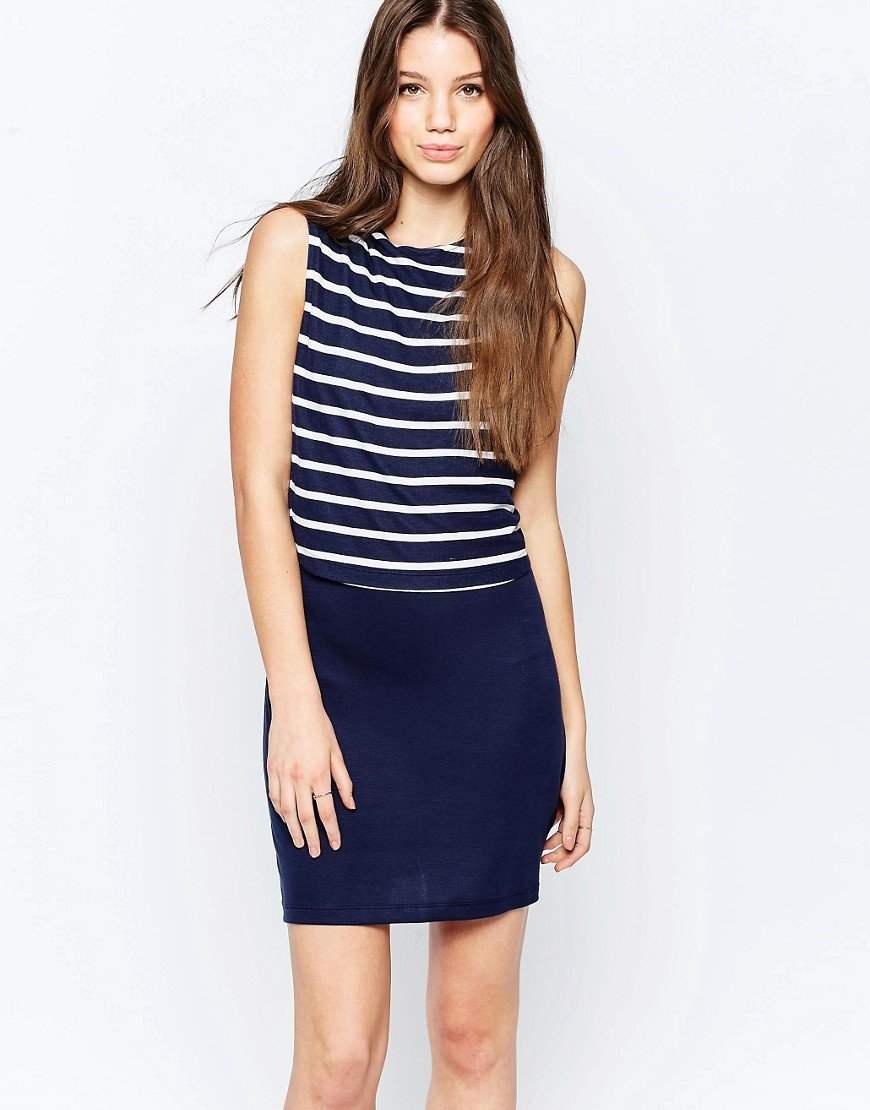 Navy Stripe Manhatten Shift Dress Navy - style: shift; length: mid thigh; pattern: horizontal stripes; sleeve style: sleeveless; secondary colour: white; predominant colour: navy; occasions: casual; fit: body skimming; fibres: cotton - stretch; neckline: crew; sleeve length: sleeveless; texture group: jersey - clingy; pattern type: fabric; pattern size: standard; season: s/s 2016