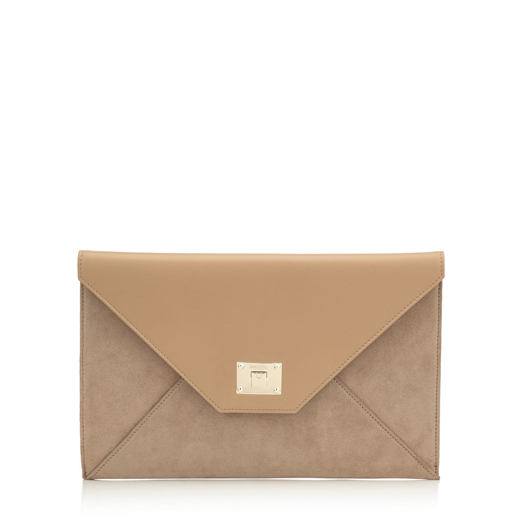 Rosetta Nude Smooth Leather And Suede Clutch Bag - predominant colour: camel; occasions: evening, occasion; type of pattern: standard; style: clutch; length: hand carry; size: standard; material: suede; pattern: plain; finish: plain; season: s/s 2016; wardrobe: event