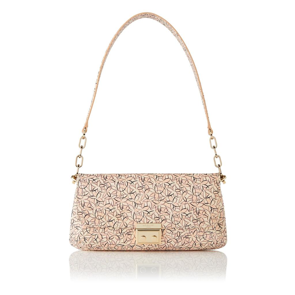 Heidi Printed Shoulder Bag - predominant colour: blush; occasions: casual; type of pattern: light; style: shoulder; length: shoulder (tucks under arm); size: small; material: leather; finish: plain; pattern: patterned/print; season: s/s 2016; wardrobe: highlight
