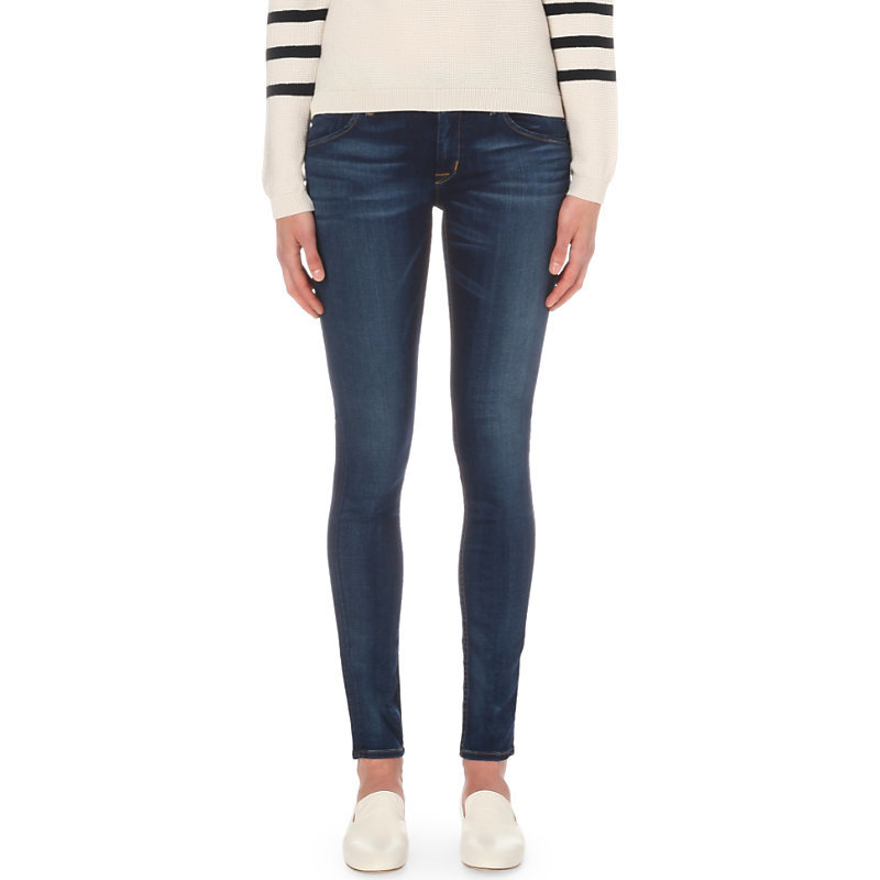 Collin Skinny Mid Rise Jeans, Women's, Revelation - style: skinny leg; length: standard; pattern: plain; pocket detail: traditional 5 pocket; waist: mid/regular rise; predominant colour: navy; occasions: casual, evening, creative work; fibres: cotton - stretch; jeans detail: whiskering, dark wash; texture group: denim; pattern type: fabric; season: s/s 2016; wardrobe: basic