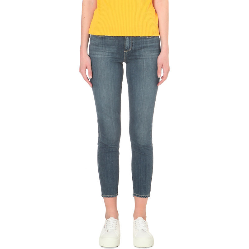 Verdugo Crop Skinny Mid Rise Jeans, Women's, Janson - style: skinny leg; pattern: plain; pocket detail: traditional 5 pocket; waist: mid/regular rise; predominant colour: denim; occasions: casual; length: calf length; fibres: cotton - stretch; jeans detail: shading down centre of thigh; texture group: denim; pattern type: fabric; season: s/s 2016; wardrobe: basic