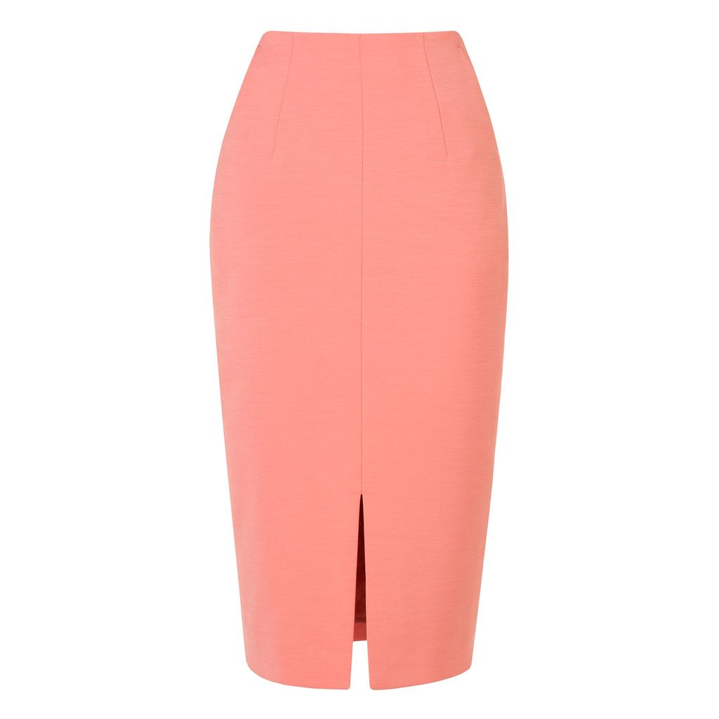 Codie Skirt, Pink - length: below the knee; pattern: plain; style: pencil; fit: tailored/fitted; waist: high rise; predominant colour: pink; fibres: polyester/polyamide - mix; occasions: occasion; pattern type: fabric; texture group: woven light midweight; season: s/s 2016; wardrobe: event