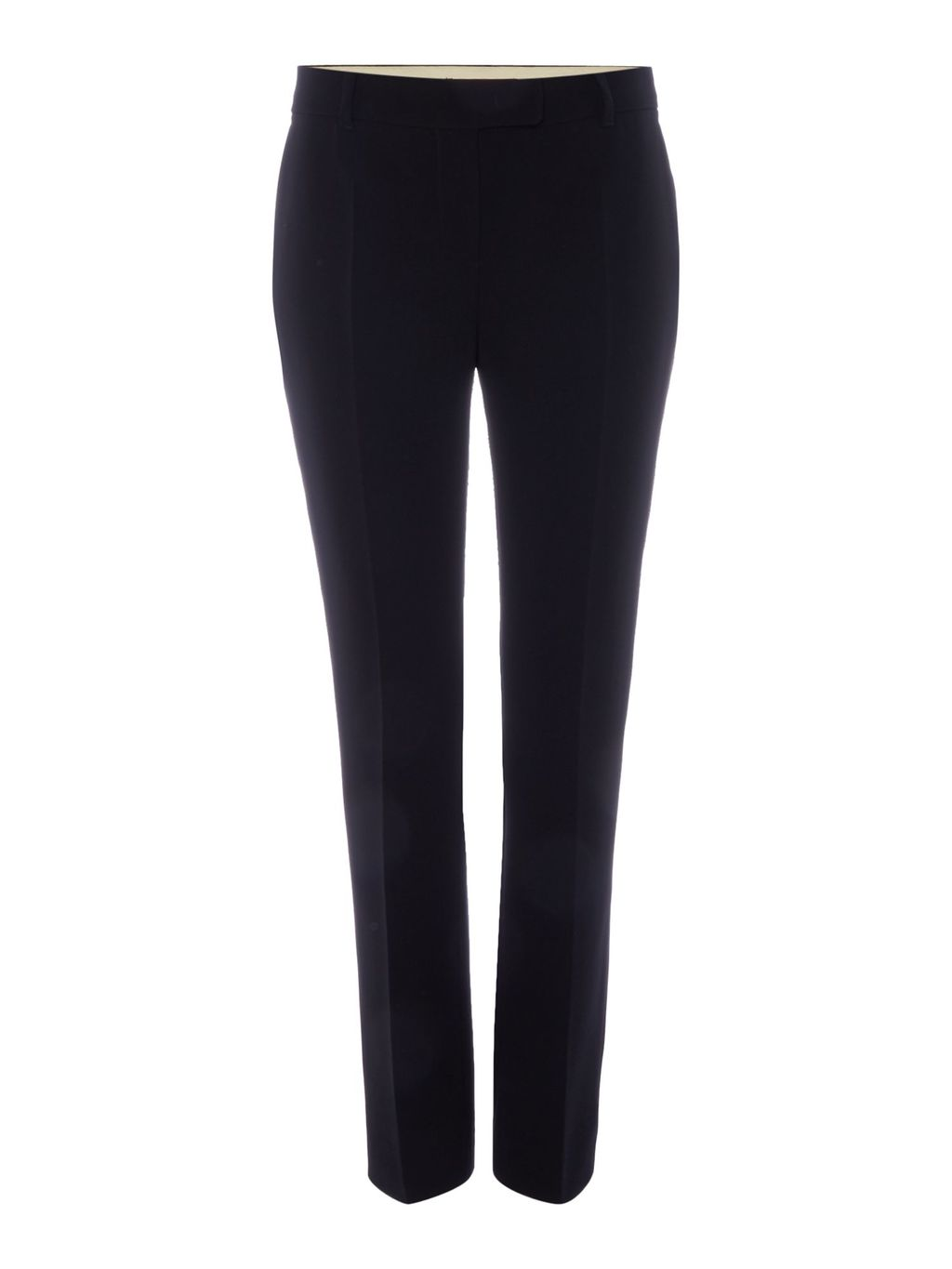 Cabaret Slim Leg Trousers, Black - length: standard; pattern: plain; waist: mid/regular rise; predominant colour: black; fibres: polyester/polyamide - mix; fit: slim leg; pattern type: fabric; texture group: woven light midweight; style: standard; occasions: creative work; season: s/s 2016; wardrobe: basic